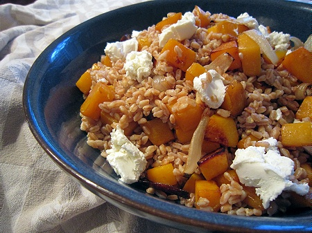 This recipe for Farro and Roasted Butternut Squash is from Heidi at ...
