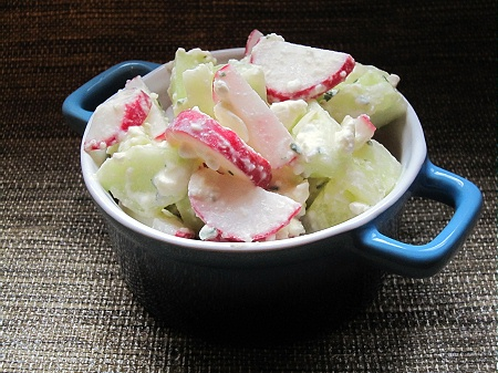 and radish salad with cucumber and radish salad with stir the dressing ...