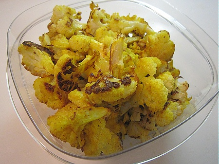 20110103turmericcauliflower Roasted Cauliflower, with Turmeric & Garlic